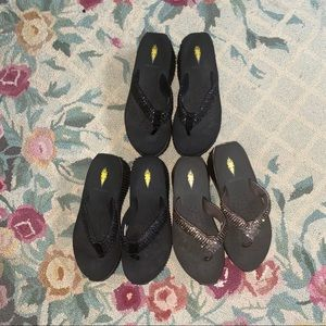 Lot of 3 pairs of women's sandals